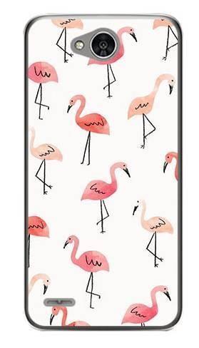 Foto Case LG X POWER 2 różowe flamingi