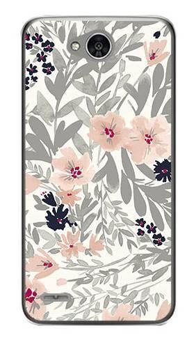Foto Case LG X POWER 2 szare kwiaty