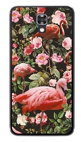 Foto Case LG X SCREEN tropikalne flamingi