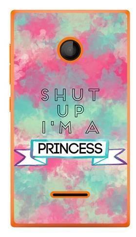 Foto Case Microsoft Lumia 435 SHUT UP