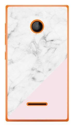 Foto Case Microsoft Lumia 435 biały marmur z pudrowym