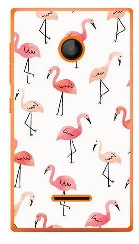 Foto Case Microsoft Lumia 435 różowe flamingi