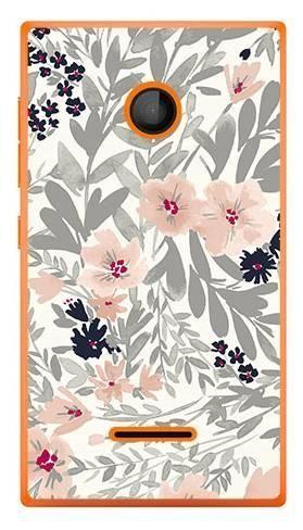 Foto Case Microsoft Lumia 435 szare kwiaty