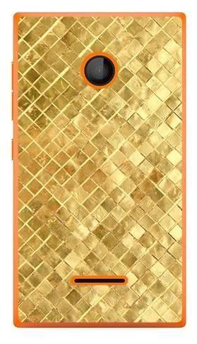 Foto Case Microsoft Lumia 435 złota powierzchnia