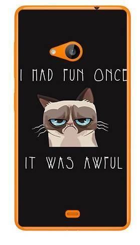 Foto Case Microsoft Lumia 535 grumpy cat