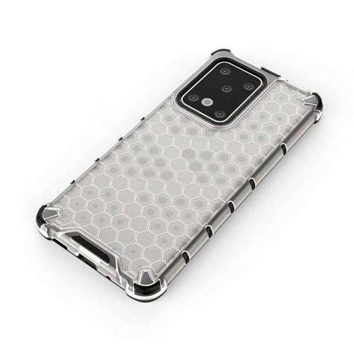 Honeycomb etui pancerny pokrowiec z żelową ramką Samsung Galaxy S20 Ultra przezroczysty