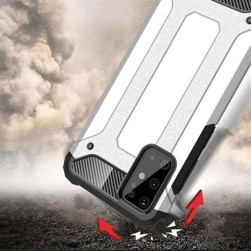 Hybrid Armor pancerne hybrydowe etui pokrowiec Samsung Galaxy S20 Plus srebrny