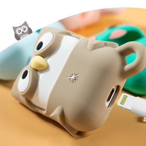 Kingxbar Adorkable Airpods Case etui na słuchawki AirPods 2 / AirPods 1 brązowy