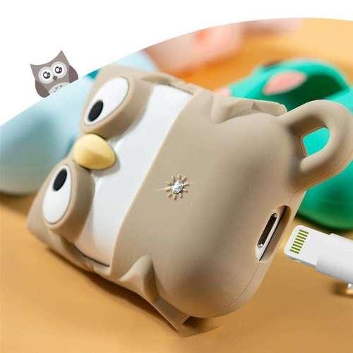 Kingxbar Adorkable Airpods Case etui na słuchawki AirPods 2 / AirPods 1 zielony