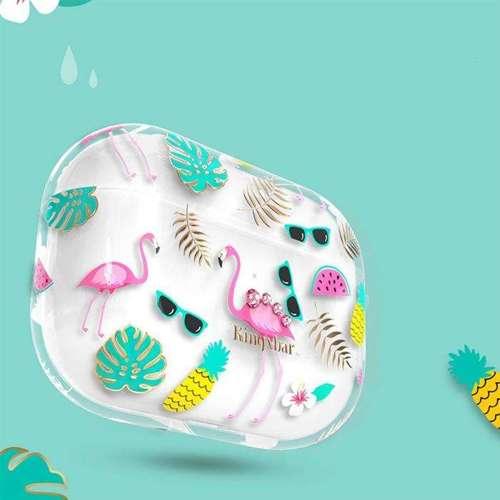Kingxbar Fresh Airpods Case etui z kryształami Swarovskiego na słuchawki AirPods Pro przezroczysty