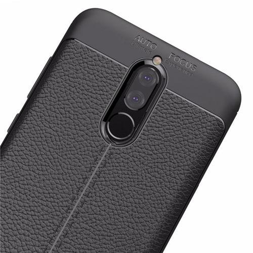 Litchi Pattern elastyczne etui pokrowiec Huawei Mate 10 Lite szary
