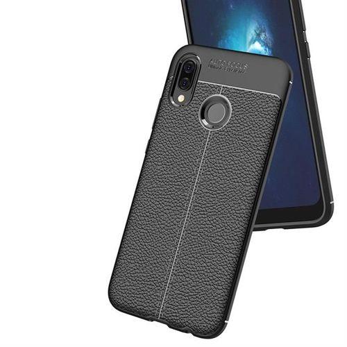 Litchi Pattern elastyczne etui pokrowiec Huawei P20 Lite niebieski