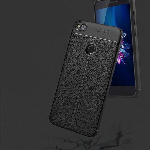 Litchi Pattern elastyczne etui pokrowiec Huawei P9 Lite 2017 / P8 Lite 2017 / Honor 8 Lite / Nova Lite niebieski