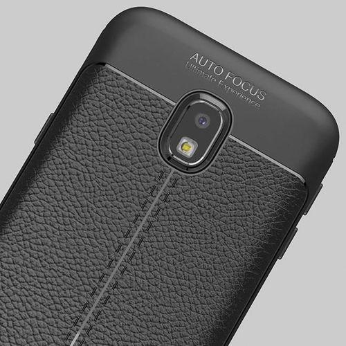 Litchi Pattern elastyczne etui pokrowiec Samsung Galaxy J7 2017 J730 niebieski