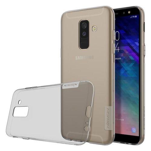 Nillkin Nature żelowe etui pokrowiec ultra slim Samsung Galaxy A6 Plus 2018 A605 szary