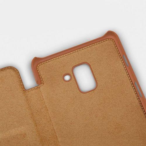 Nillkin Qin skórzana kabura etui Samsung Galaxy A8 2018 A530 brązowy