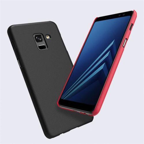 Nillkin Super Frosted Shield wzmocnione etui pokrowiec + folia Samsung Galaxy A8 2018 A530 czerwony
