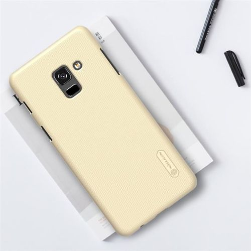 Nillkin Super Frosted Shield wzmocnione etui pokrowiec + folia Samsung Galaxy A8 2018 A530 złoty
