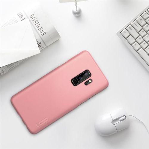 Nillkin Super Frosted Shield wzmocnione etui pokrowiec + folia Samsung Galaxy S9 Plus G965 różowy