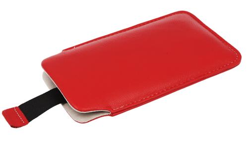 Pionowa skórzana wsuwka Vena IPHONE 5/ SE czerwona