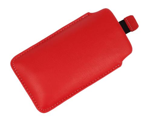 Pionowa skórzana wsuwka Vena SAMSUNG S8500 WAVE czerwona