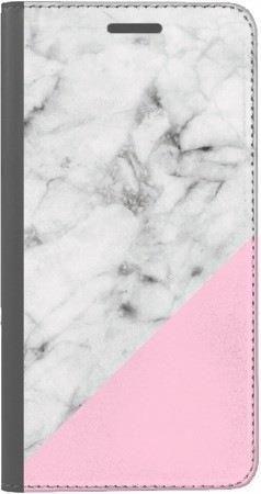 Portfel DUX DUCIS Skin PRO biały marmur z pudrowym na Huawei Honor 9 Lite