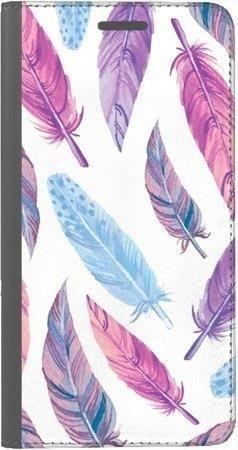 Portfel DUX DUCIS Skin PRO fioletowe piórka na Huawei Honor 10