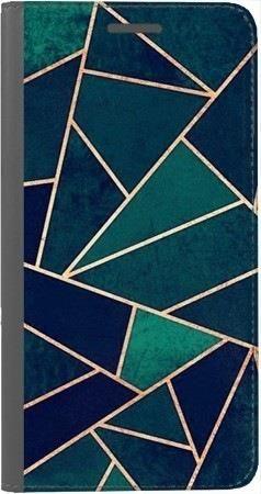 Portfel DUX DUCIS Skin PRO geometria turkus na Huawei Honor 10