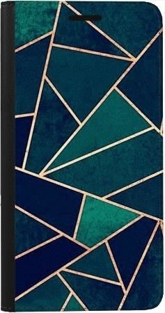 Portfel DUX DUCIS Skin PRO geometria turkus na Samsung Galaxy A70