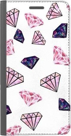 Portfel DUX DUCIS Skin PRO różowe diamenty na Huawei Honor 10