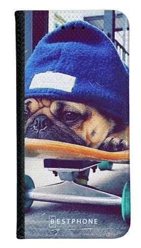 Portfel Wallet Case LG G8 ThinQ bulldog na deskorolce