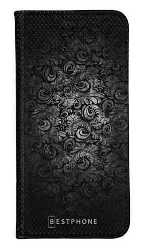 Portfel Wallet Case LG G8 ThinQ czarne wzorki