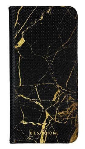 Portfel Wallet Case LG G8 ThinQ czarno złoty marmur