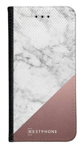 Portfel Wallet Case LG G8 ThinQ marmur z miedzią