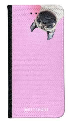 Portfel Wallet Case LG G8 ThinQ mops na różowym
