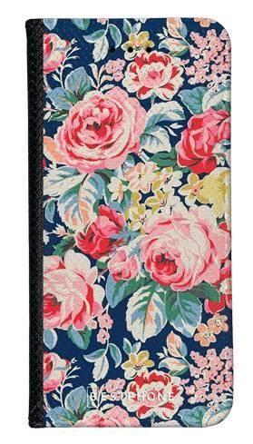 Portfel Wallet Case LG G8 ThinQ niebieskie kwiaty vintage