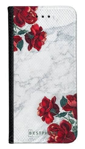 Portfel Wallet Case LG G8 ThinQ róże i marmur