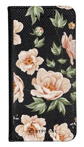 Portfel Wallet Case LG G8 ThinQ róże na czarnym