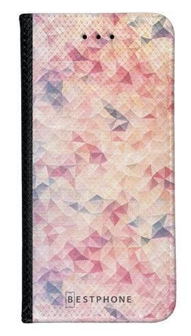 Portfel Wallet Case LG G8 ThinQ różowe trójkąciki