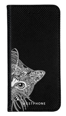 Portfel Wallet Case LG K40 biało czarny kot