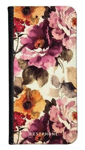 Portfel Wallet Case LG K40 kwiaty akwarela