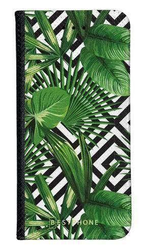 Portfel Wallet Case Samsung Galaxy A10e kwiaty tropikalne geometryczne