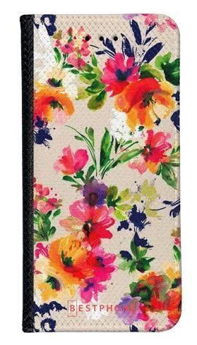 Portfel Wallet Case Samsung Galaxy A10e malowane kwiaty