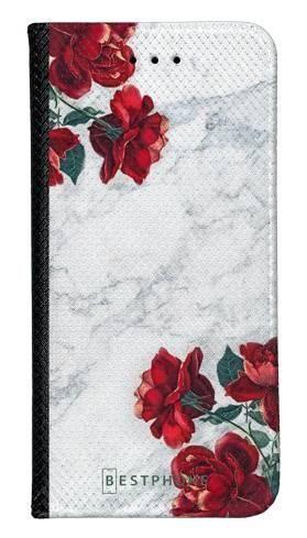 Portfel Wallet Case Samsung Galaxy A20e róże i marmur