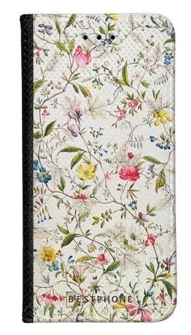 Portfel Wallet Case Samsung Galaxy A5 białe kwiatki