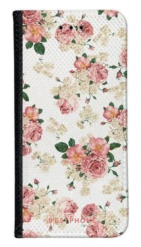 Portfel Wallet Case Samsung Galaxy A60 beżowe kwiatki