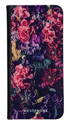 Portfel Wallet Case Samsung Galaxy A60 kompozycja kwiatowa