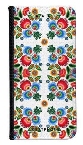 Portfel Wallet Case Samsung Galaxy A60 kwiaty łowickie