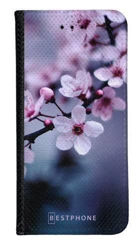 Portfel Wallet Case Samsung Galaxy A60 kwiaty wiśni