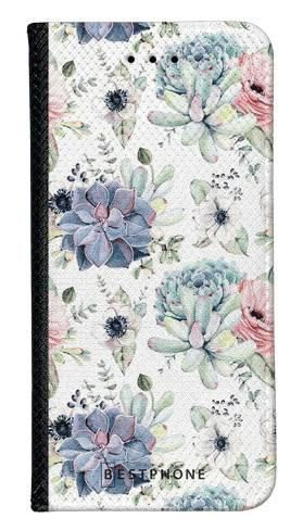 Portfel Wallet Case Samsung Galaxy A60 pastelowe kwiatki